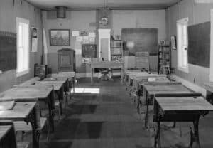 A prairie schoolroom liked where Laura Ingalls Wilder would have taught