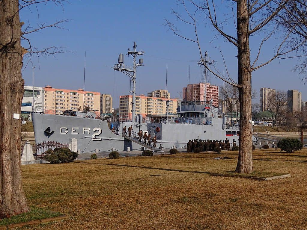 The USS Pueblo today sits as a North Korea Tourist attraction