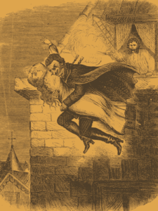 artists impression of Spring-heeled Jack