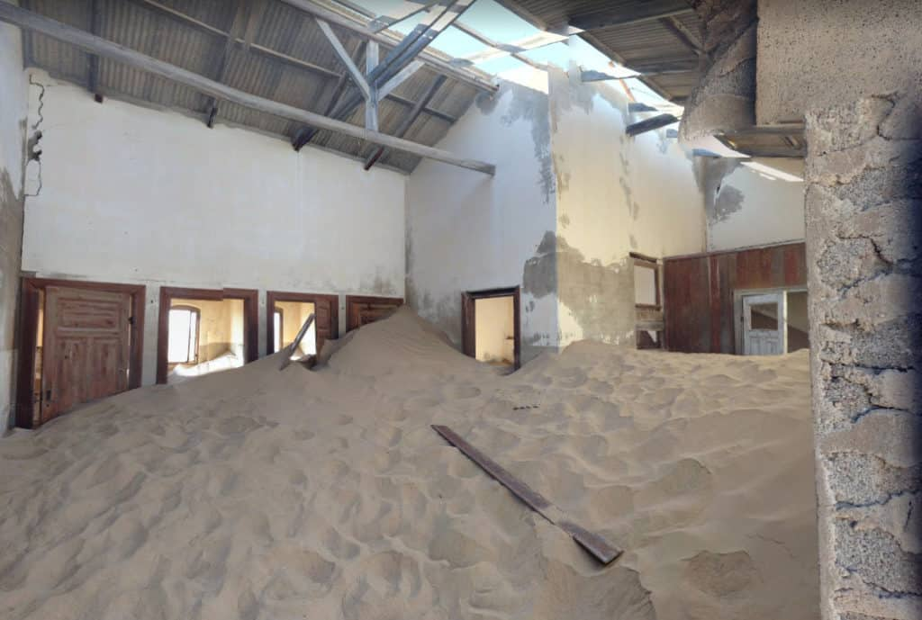 Kolmanskop sand in house